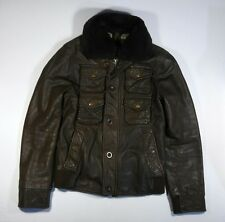 Energie mens leather bomber pilot G-1 jacket size L