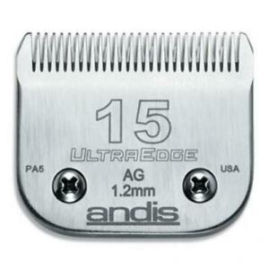 Andis Ultraedge Blade # 15 1.2mm fits Andis AG, AGC, AGR+ s Oster A5