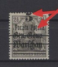 POLAND, POLSKA STAMPS, 1918 Fi. 8 WITH ERROR ** + WARRANTY!