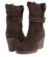 EMU Women's Heighton Lo Wedge Ankle Boot, Chocolate Brown SZ 5 - New!!!