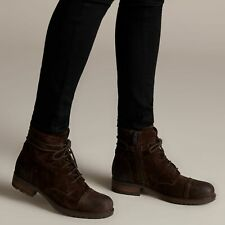Clarks Adelia Stone Brown Suede Women's Ankle Boots Size UK 4 1/2D