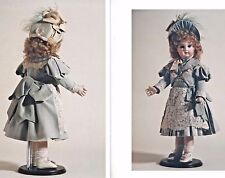 "22""ANTIQUE FRENCH DOLL@1880-00 LACE TRIM BOW-BUSTLE DRESS&UNDIES PATTERN GERMAN"