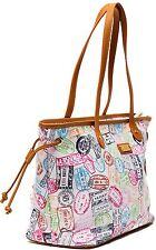 Borsa Donna Spalla + Laccio Bianco Cuoio Alviero Martini Shopping Bag Woman Whit