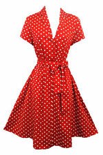 Polka Dot Casual 100% Cotton Dresses for Women