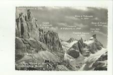 136454 bella cartolina rifugio tuckett dolomiti di brenta