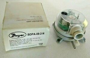 "Dwyer BDPA-08-2-N - Adjustable Pressure Alarm - 0.08-1.20"" WC (20-300 Pa)"