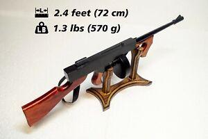 Tommy Gun wood wooden linden handmade painted gun