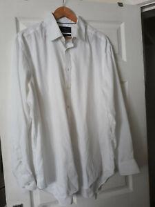 M&S Men White Shirt Regular Pure Cotton Non Iron Collar 17 Inch 43cm XL USED