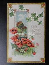 Poppy Postcard: Advert BISSELL CARPET SWEEPER - EASTER GREETING Co. c1908
