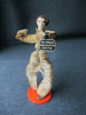 Vintage celluloid fabric & wire doll I am from China Made in Usa label