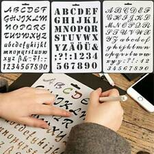 Letter Alphabet Number Paper Layering Stencils Painting Template Scrap Booking
