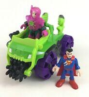 Imaginext DC Super Friends Superman Lex Luthor Car Figures Mattel