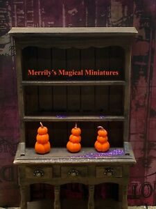 Dolls House Cute Little Pumpkin Stack By Merrily's Magical Miniatures