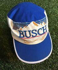 Vintage 80s Busch Beer All Over Print Hat Strapback Original Mountains