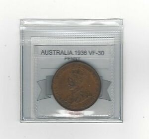 **1936**Australia, Penny, Coin Mart  Graded**VF-30**