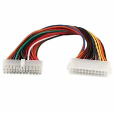 """24 Pin Male to Female ATX TW PSU High Power Extension Cable 22AWG 600V 30CM 12"""""""