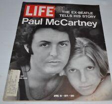 LIFE Magazine April 16 1971 PAUL & LINDA McCARTNEY Cover Beatles
