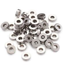 100PCS 304 Stainless Steel Bead Spacers DIY Metal Bead Flat Round 7x2mm