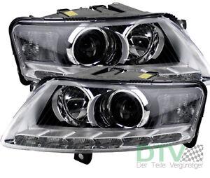 für Audi A6 4F 10/08 - 03/11 Bi-Xenon Scheinwerfer mit LED Tagfahrlicht als Satz