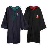 Adult Kids Harry Potter Hooded Wizard Cloak Robe Cape Costume Fancy Dress