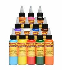 ETERNAL INK Sample Set 12 Professional Traditional Colors Size 1/2 oz 15 ml USA