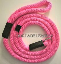 "SLIP LEAD/LEASH W/GUIDE-5/8"" x 6'-ROPE- L/XL DOGS-UP TO 200 LBS  PINK (614)"