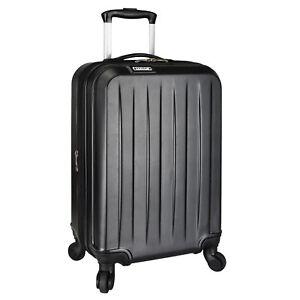 """Elite Luggage Dori Black 20"""" Carry-on Expandable Spinner Luggage Travel Suitcase"""