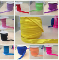 "Fold Over Elastic 15mm (5/8"") Soft Shiny Baby Headband Tutu FOE ~ SAME DAY POST~"