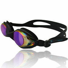 Schwimmbrille Taucherbrille mit Etui AF-400m Antibeschlag UV-Schutz schwarz