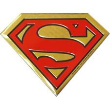 SUPERMAN Logo On Gold Metal Large New Sticker/Decal DC Comics super hero