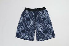 "Lululemon THE Short 11"" Linerless Yoga Gym Shorts City Sights Caspian Blue Men M"