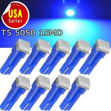 10X Blue T5 73 2721 Wedge 5050 SMD LED Dashboard Dash Gauge Light Bulb 8000K 74