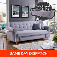 3 Three Seater Storage Corner Sofa Bed Futon Couch Lounges Suite Chaise Grey