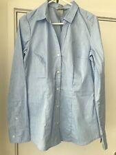 H&M V-neck fitted stretch office work shirt blue EUR sz 34 / Aus 8 BNWOT