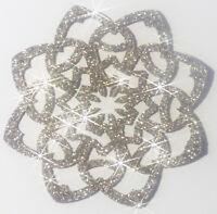 ROSACE couleur CHAMPAGNE Patch termocollant  hotfix Glitter 5 cm