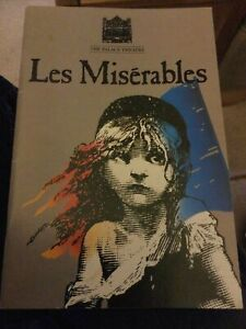 LES MISERABLES Souvenir Brochure and Synopsis and Programme 1989