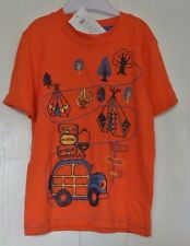 New Boys 100% cotton T-shirt orange age 3-4 years