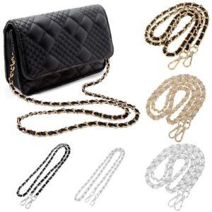 Metal + Leather Crossbody Shoulder Bag Replacement Chain Strap for Women Handbag
