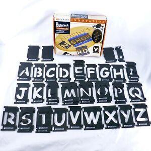 """Rockler Interlock Sign Maker's Templates 2 1/4"""" Comic Sans Kit Set Font Letters"""