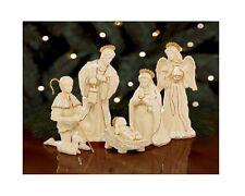 Lenox Innocence Nativity 6 Pc Holy Family Angel, Shepherd Lamb New