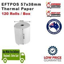 120 Rolls 57x38mm Thermal Roll EFTPOS Cash EXPRESS AUS WIDE FREE DELIVERY