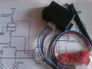 Programmierbares 1x=3x Komfortblinker Blinkrelais für Std. Einkreis Blinkanlagen