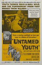 UNTAMED YOUTH Movie POSTER 27x40 Mamie Van Doren Lori Nelson John Russell Don