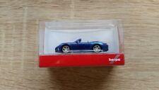 Herpa 038843 - 1/87 Porsche 911 carrera 2 convertible-sahirblau metallic-nuevo
