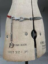 Vintage Dior Hardcore Belt Necklace Choker Crystal Monogram John Galliano RARE