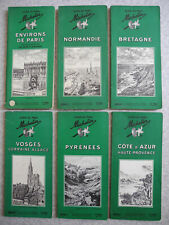 6 guides Michelin années 50 plan carte vintage french map 50s auto rétro garage