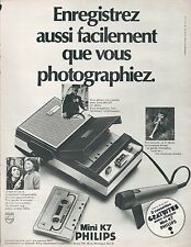▬► PUBLICITE ADVERTISING AD Magnétophone PHILIPS Mini K7