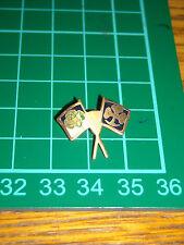 girl scout  boy scout vecchio  stemma  pin spilla distintivo bandierine