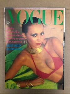 Vogue UK; May 1976; Original Vintage Magazine; Marie Helvin Cover Model