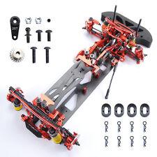 1/10 Alloy & Carbon Fiber 078055R G4 4WD Drift RC Racing Car Frame Kit Hotsa Red